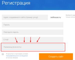 nethouse промокод 300 рублей