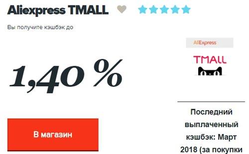 Кэшбэк Tmall в Копикот