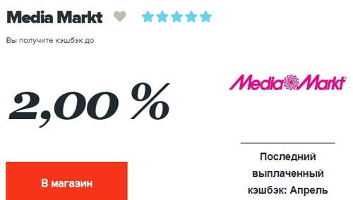 Кэшбек Медиамаркт в Копикот.ру
