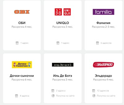 Магазины партнеры банковской карты Совесть