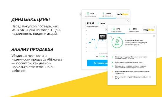 Расширение Летишопс для анализа динамики цен
